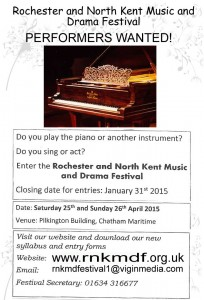 Get involved in the Rochester and North Kent Music and Drama Festival